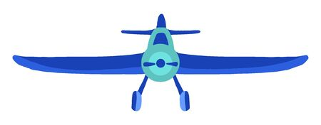 Sign airplane in hand drawn cartoon style isolated on white background. Agricultural aircraft vector flat colored stock illustration. Icons for kids playing, t shirt print.