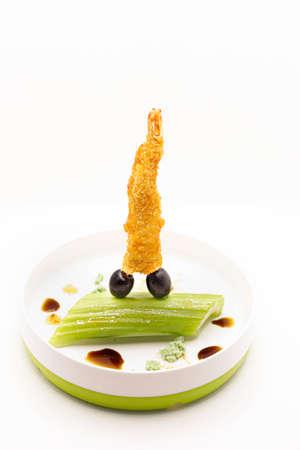 Sushi tempura Stockfoto