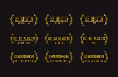 Movie award documentary achievement icon design Illustration