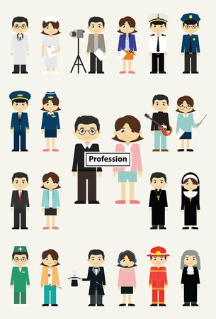 professions: professions Vectores