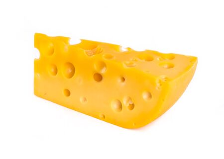 piece of cheese isolated Stock Photo