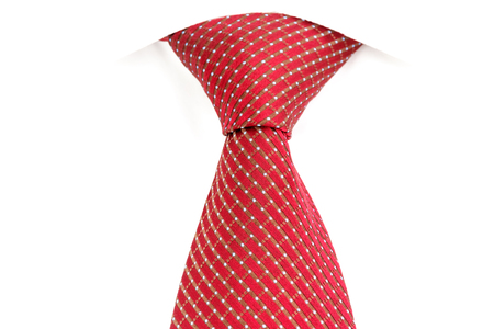 windsor: red tie, knotted the double Windsor Stock Photo