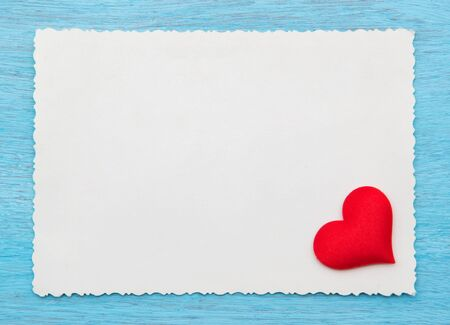 Valentine card with red heart photo