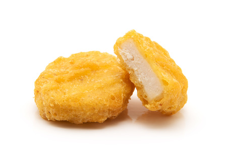 chicken nuggets: Chicken nuggets isolated on white background