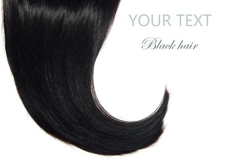 Black Hair over white Zdjęcie Seryjne