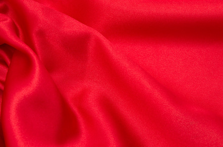 red satin or silk fabric