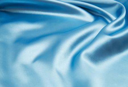 blue silk: Smooth elegant blue silk can use as background