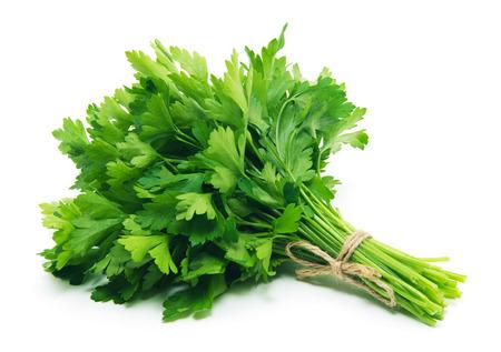 Fresh parsley on white