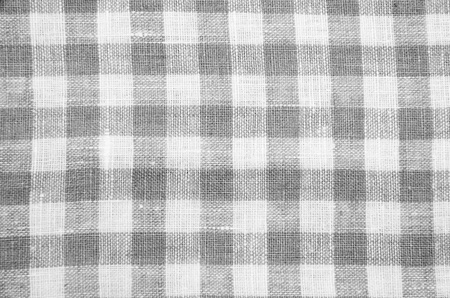 greys: greys checked fabric tablecloth Stock Photo
