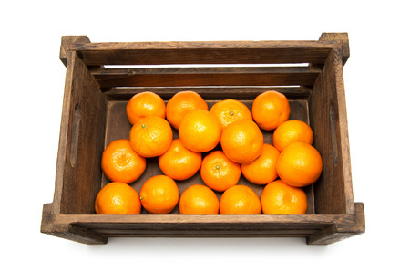 mandarins in box photo