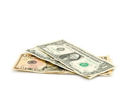 hoard: money isolated on a white