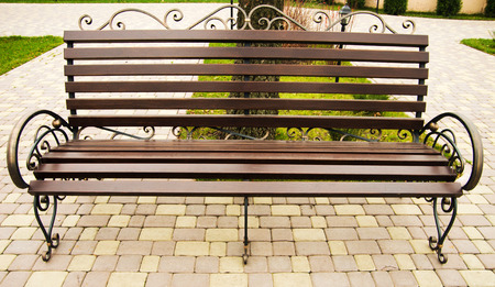 bench alone: alone bench on the park Stock Photo