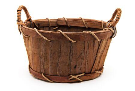 wattled: Wooden wattled basket