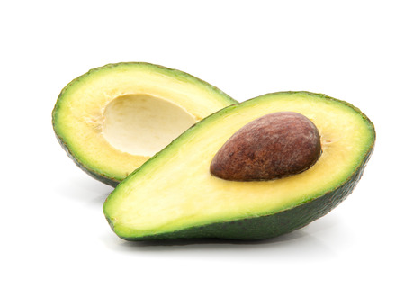 Avocado isolated on white Banco de Imagens - 39899093