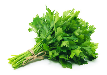 Fresh parsley on white background Zdjęcie Seryjne