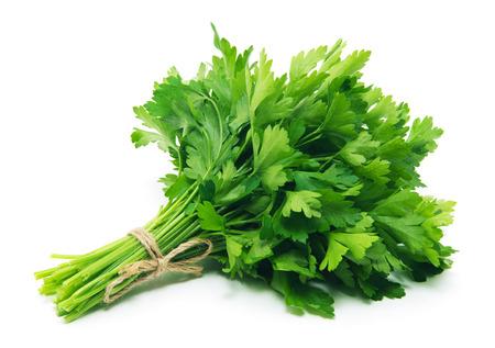 Fresh parsley on white background Archivio Fotografico