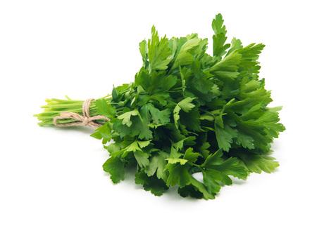 Fresh parsley on white background Banco de Imagens