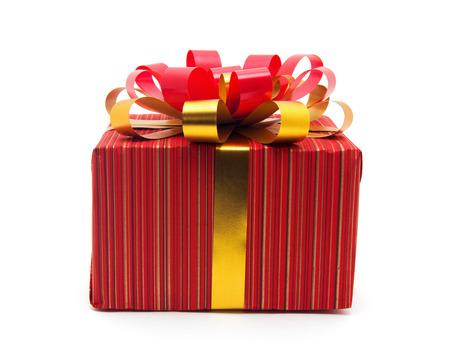 christmas gift: Christmas gift box Stock Photo