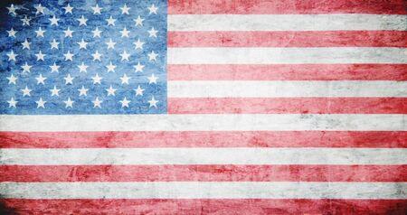 historic vintage: Flag of USA