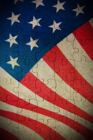 flag background: Grunge USA flag background