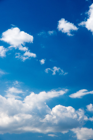 blue sky background with white clouds Stock Photo - 41101313