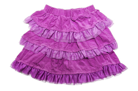 a frill: pink skirt for girl Stock Photo