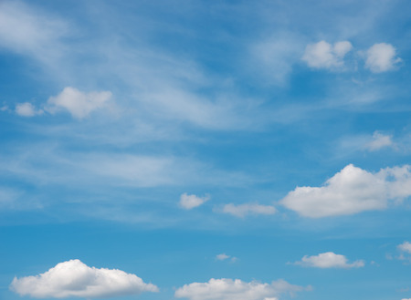 clear sky: blue sky background with white clouds