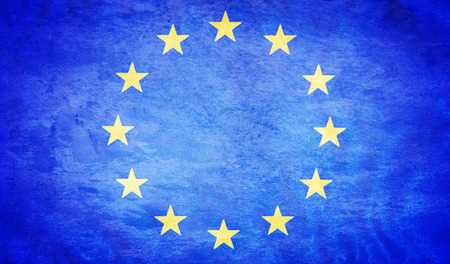 european: European union grunge flag Stock Photo