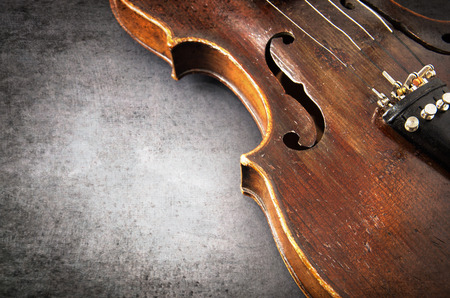 Violin, music instrument of orchestra closeup