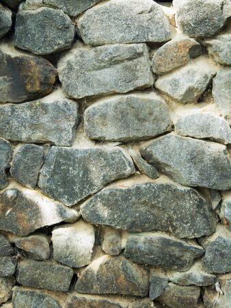 built: wall built of natural stone