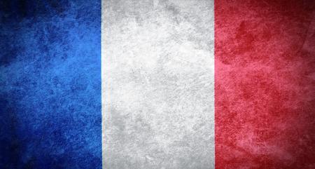 bandera francia: Grunge de la bandera de Francia