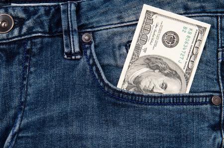 gamblers: cash in jeans pocket