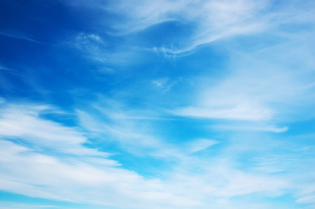 heaven background: White clouds in blue sky.