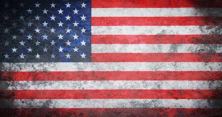 the united states flag: Grunge USA Flag Stock Photo