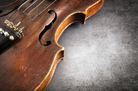 Violin music instrument of orchestra closeup Stock Photo
