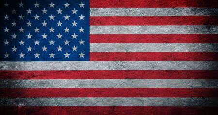 vintage grunge: Flag of USA