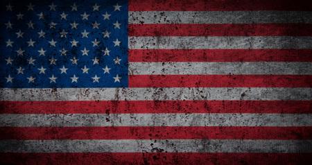 Grunge USA Flag Stockfoto