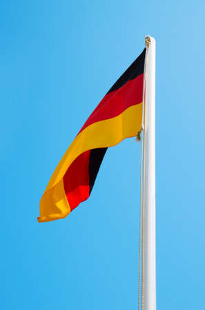 world flag: Silky flag of Germany flying in the wind