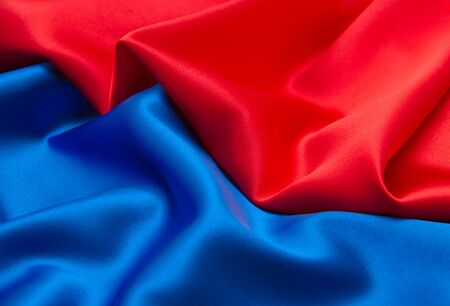 blue satin: red and blue satin fabric for background