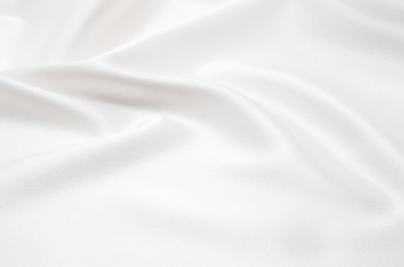 linen fabric: white satin fabric as background