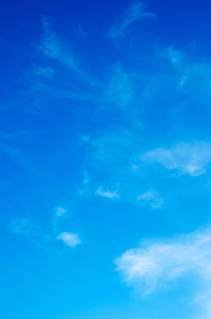 blue sky: White clouds in blue sky.