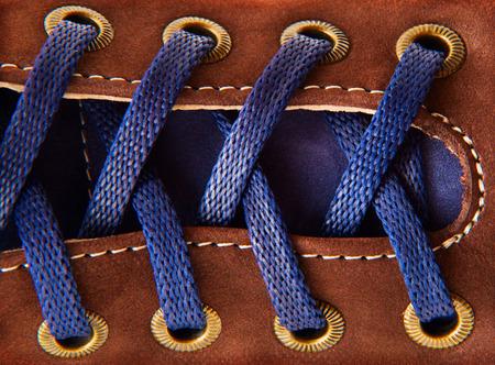 shoe laces: shoe laces in close-up
