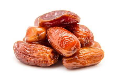 dry fruit: Dates isolated on white background Stock Photo