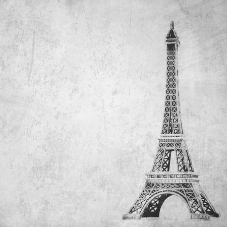 Eiffel Tower: Eiffel tower on grunge background