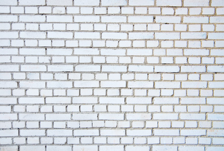 White Brick Wall For Texture Or Background Standard Bild