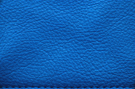 Blue leather texture or background Banco de Imagens - 48832427