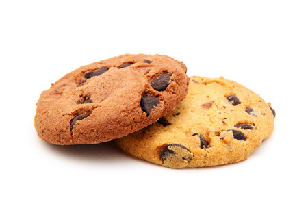 holiday cookies: Chocolate chip cookie on white
