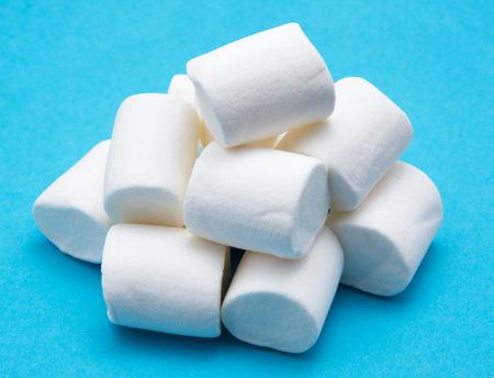 heap: heap of marshmallow on blue