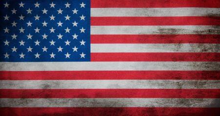 white flag: Flag of USA