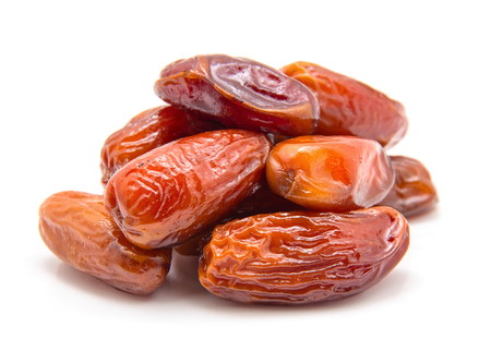 Dates isolated on white background Foto de archivo